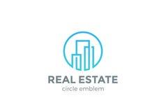 Real Estate Logo design vector Linear Building  Royalty Free Stock Photography