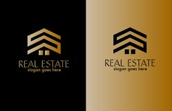 Real Estate Logo Design Vector royalty free stock images