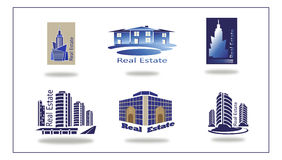 Real estate logo , eco home . Royalty Free Stock Image