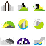 Real Estate Logo Elements. Collection of real estate / architecture icons Royalty Free Stock Images