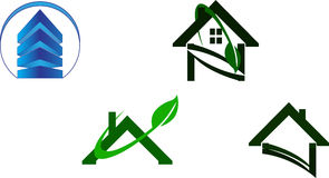 Real estate logo Royalty Free Stock Images