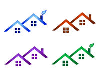 Real estate logo. Illustration , real estate logos in different colors Stock Images