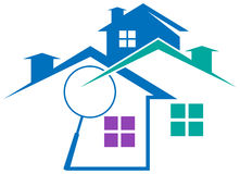 Real estate logo. Line art isolated real estate logo Stock Images
