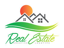 Real estate logo Stock Photography