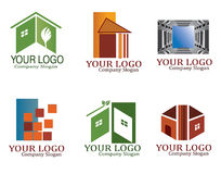 Real estate logo set Royalty Free Stock Image