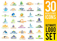 Real Estate Logo Set Lizenzfreie Stockfotos