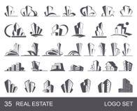 Real Estate Logo Set Fotos de archivo libres de regalías