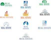 Real Estate Logo Set Casa creativa Logo Collection Fotografía de archivo