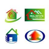 Real Estate Logo Set Royalty Free Stock Image