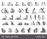 Real Estate Logo Set Royalty Free Stock Photos