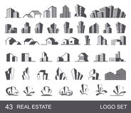 Real Estate Logo Set Royalty Free Stock Photo