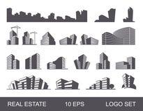 Real Estate Logo Set Edificio creativo abstracto Concepto de la marca de la compañía Foto de archivo