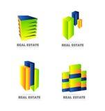Real estate logo set icon Stock Images