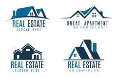 Real estate logo set. Vector real estate logo collection set Royalty Free Stock Photography