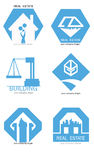 Real estate logo set. Vector flat icon pack. Stock Photo