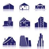 Real estate logo set. Vector set of real estate icons/logos Stock Photo