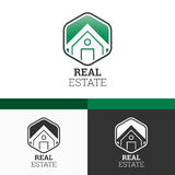 Real Estate Logo Template. Conception moderne d'illustration de concept du vecteur EPS10 Photographie stock