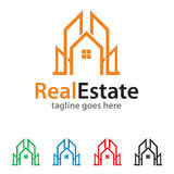 Real Estate Logo Template Design Vector Photographie stock