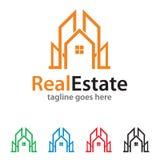 Real Estate Logo Template Design Vector Fotografia Stock