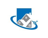 Real Estate Logo Template Design Vector, emblème, concept de construction, symbole créatif, icône Photographie stock libre de droits