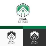 Real Estate Logo Template. Modernes Konzept-Illustrations-Design des Vektor-EPS10 Stockfotografie