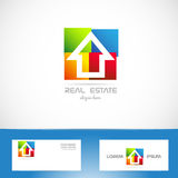 Real estate logo. Vector company logo icon element template real esate colors colored house residential Royalty Free Stock Photography