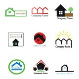 Real estate logos Royalty Free Stock Image