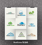 Real Estate Logos. Real Estate Icons and vector logo Set Stock Image