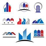 Real Estate Logos. Set of characters on real estate and construction Stock Image