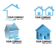 Real estate logos set. Collection with  real estate logos isolated on white background Stock Image