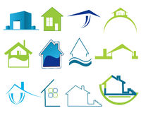 Real estate logos Stock Image