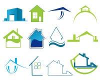 Real estate logos Stock Image