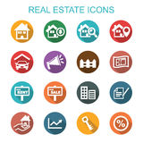 Real estate long shadow icons Stock Photo
