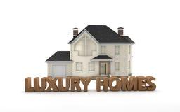 Real Estate-Luxehuizen Stock Foto's