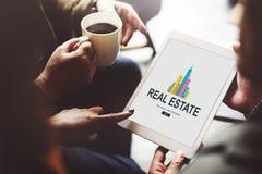 Real Estate Majątkowy pracujący pojęcie Obraz Stock