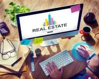 Real Estate Majątkowy pracujący pojęcie Obrazy Royalty Free