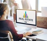 Real Estate Majątkowy pracujący pojęcie Fotografia Royalty Free