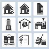 Real estate management icons Stock Image