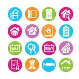 real estate management icons Stock Photos