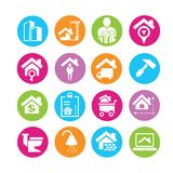 Real estate management icons Royalty Free Stock Image