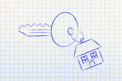 Real estate market,  home buying and selling Stock Image