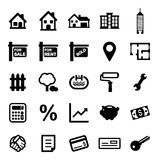 Real Estate Market Icons Royalty Free Stock Images