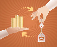 Real Estate Market. Vector illustration on the subject of Real Estate trading Stock Images