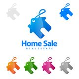 Home Sale, Real estate Vector Logo Design, Abstract Building and Home with line shape represented unique, strong and modern Real e. Real estate Marketing vector Royalty Free Stock Image