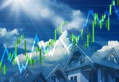 Real Estate marknadsför att gå upp Vektor Illustrationer