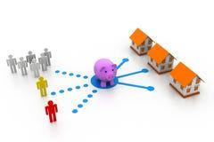 Real Estate-Markt Stock Illustratie