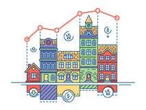 Real Estate-Markt Vector Illustratie