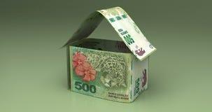 Real Estate met Argentijnse Peso's stock videobeelden