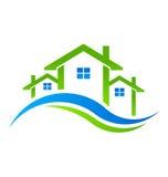 Real Estate Mieści loga Zdjęcie Stock