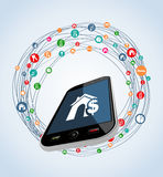 Real estate mobile apps icon set Stock Photo